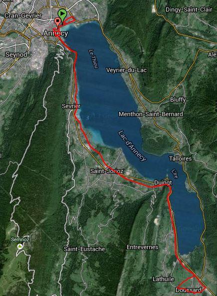 parcours marathon du lac annecy
