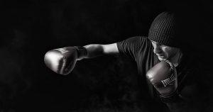 coach de boxe en action